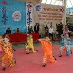 Перед соревнованиями перед участниками и зрителями выступили местные юные артисты.