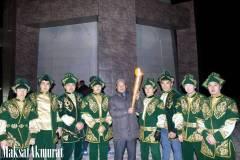 Обряд зажжения огня на Отпан тау