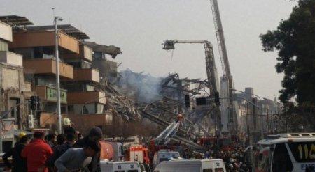 Видео обрушения 17-этажного здания в Тегеране появилось в Сети