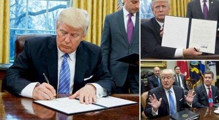 Трамп росчерком пера вывел США из Транстихоокеанского партнерства
