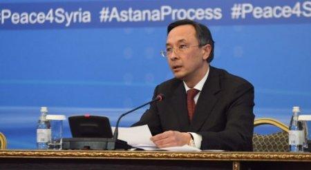 Итоговое заявление по сирийским переговорам в Астане озвучил глава МИД РК