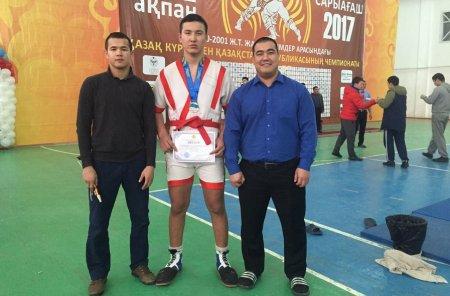 Две серебряные медали завоевали спортсмены из Мангистау на чемпионате Казахстана по казакша курес