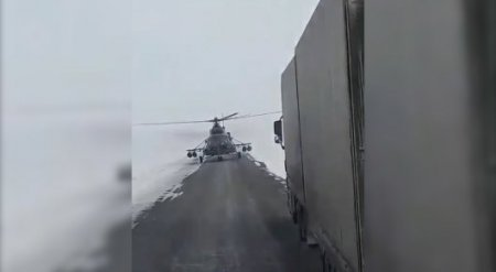 Посадку вертолета на трассу перед дальнобойщиками объяснили в МО РК
