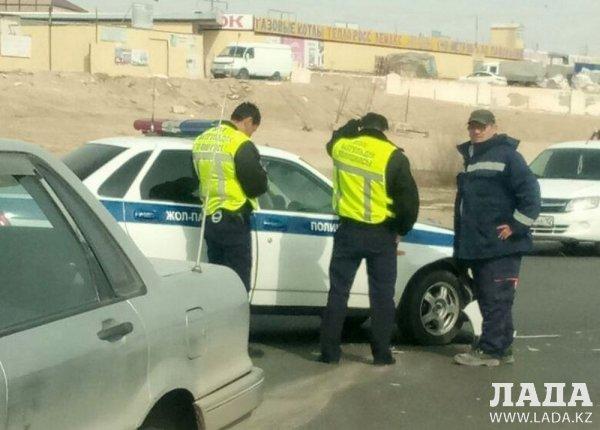 В Актау столкнувшегося с полицейским автомобилем водителя  Mitsubishi-Galant привлекут к ответственности