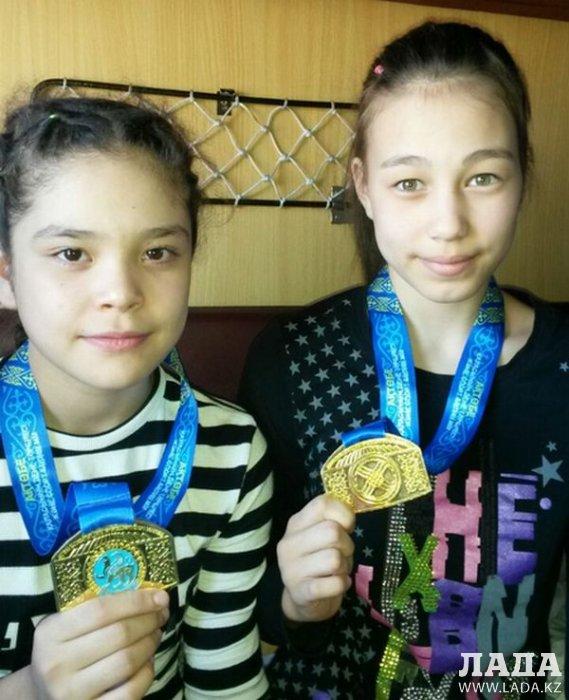 Юные спортсменки из Актау завоевали весь комплект медалей на республиканском турнире в Актобе