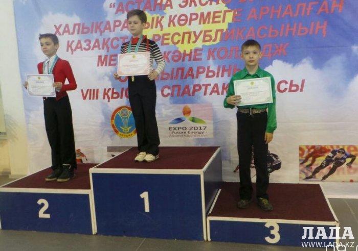 Фигурист из Актау Алексей Ветров завоевал бронзовые медали на двух республиканских турнирах в Астане