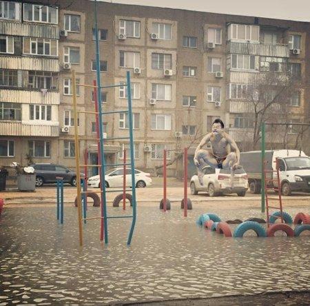Народное творчество на тему «Дождь в Актау»
