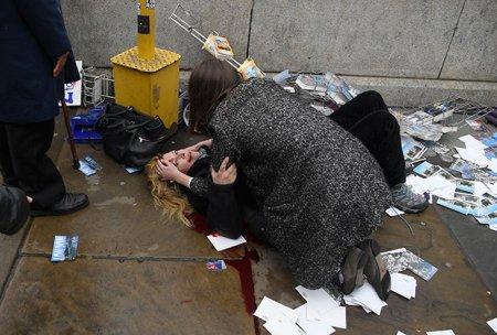 Возле британского парламента обстреляли людей