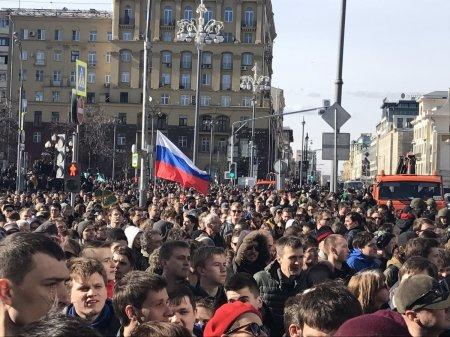 В Москве задержали более 500 человек на акции оппозиции