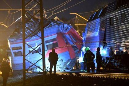 В РЖД сообщили о 50 пострадавших при столкновении поездов в Москве