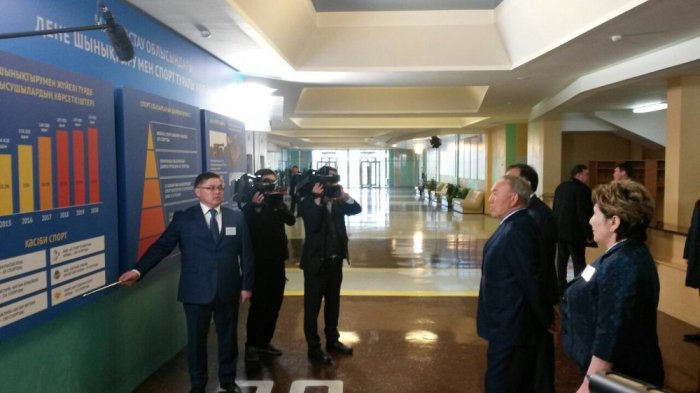Нурсултан Назарбаев принял участие в церемонии открытия дворца спорта «Мангистау Арена»