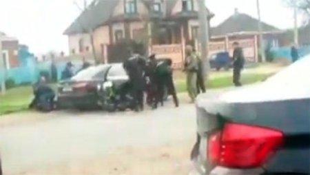 Появилось видео задержания убийц полицейских в Астрахани