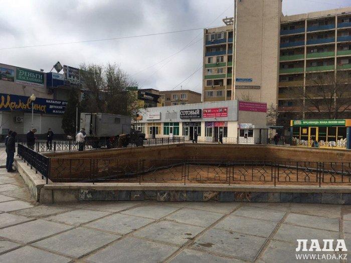 Фонтан «Каравелла» в Актау пообещали запустить 1 мая