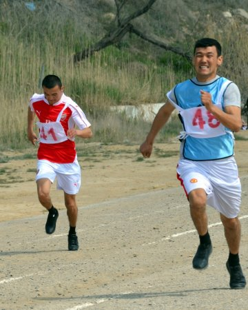 В Актау прошли соревнования по легкой атлетике среди пожарных