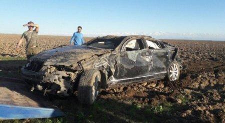Лихач заснял собственное ДТП на трассе в Казахстане