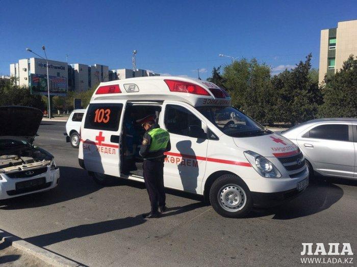 Водитель автомобиля Lada Priora получил ожог из-за сработавшей во время ДТП подушки безопасности