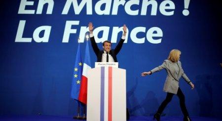 Эммануэль Макрон побеждает на выборах президента Франции