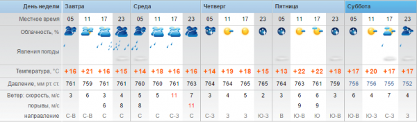 Ливневые дожди прогнозируют синоптики в Актау
