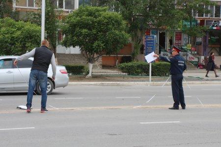 В Актау на пешеходном переходе сбили женщину