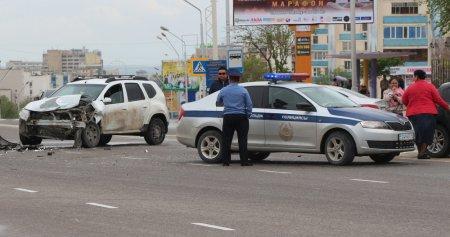 ДТП на кольцевой возле памятника Кашагану (ФОТО)