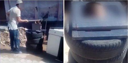Жестокое избиение маленького ребенка лопатой сняли в Шымкенте
