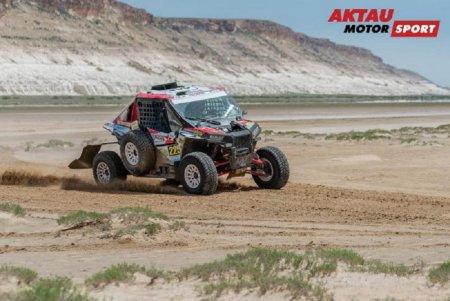 Экипаж №222 команды Aktau Motorsport удерживает третью строчку в рейтинге автомобилей категории Т2 на Rally Kazakhstan-2017