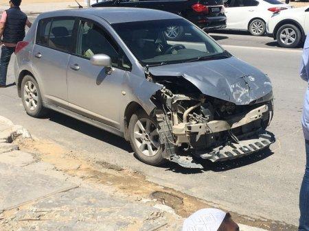 Авария на перекрестке в 11 микрорайоне. ФОТО