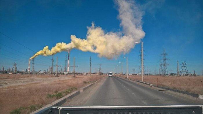 В социальных сетях сообщили о выбросах на месторождении Тенгиз