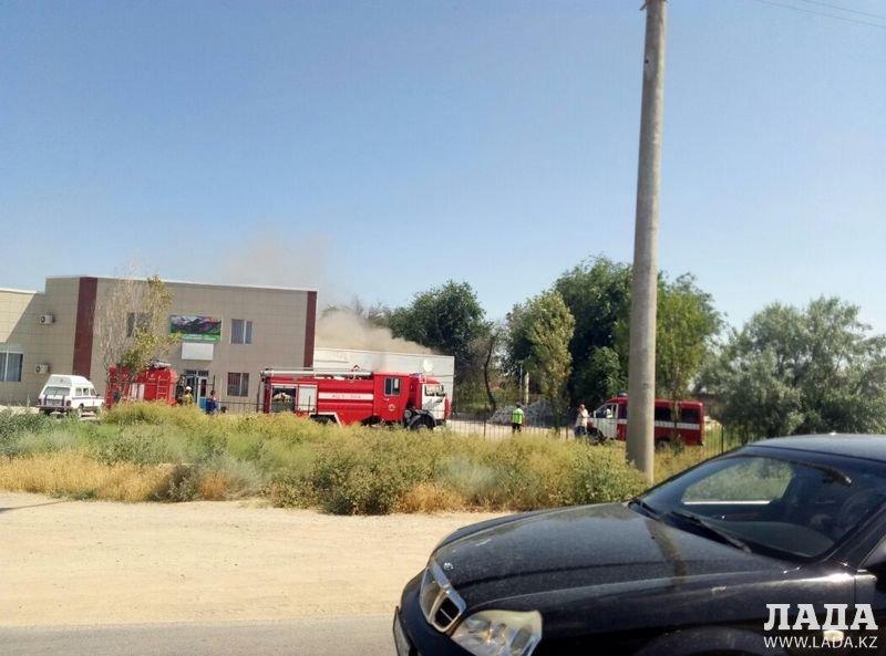 В 21 микрорайоне Актау загорелась баня