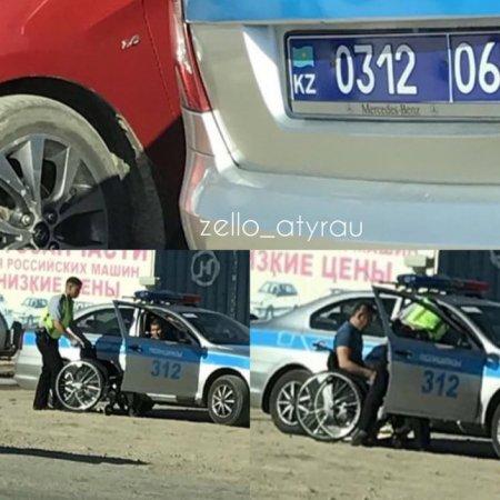 Поступок полицейского растрогал жителей Атырау