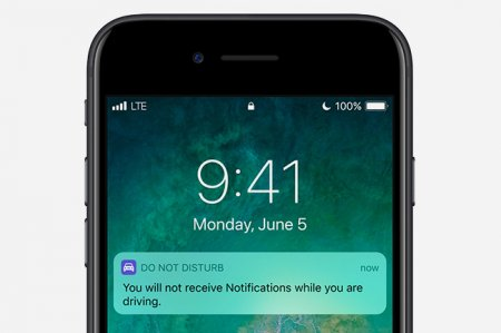 Водители не увидят сообщения на своём iPhone за рулём