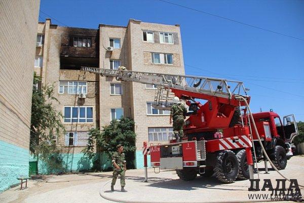 Врачи рассказали о состоянии пострадавшей во время пожара в 5 микрорайоне Актау