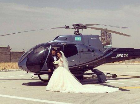 Вертолет из свадебного кортежа в Шымкенте принадлежит нефтегазовой компании