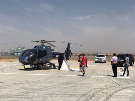Свадьбу с вертолетом в кортеже оценили в 38 тысяч долларов в Шымкенте