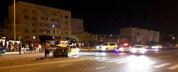 Двое человек пострадали в ночном ДТП в Актау