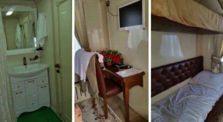 """Видео из люксового вагона: Названа цена поездки в """"гостинице на колесах"""""""