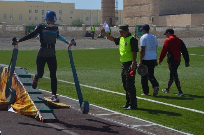 Сборная Мангистау лидирует по итогам первого дня чемпионата Казахстана по пожарно-спасательному спорту