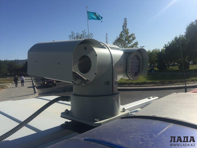 Патрульные машины сотрудников полиции Актау оборудовали новыми видеокамерами