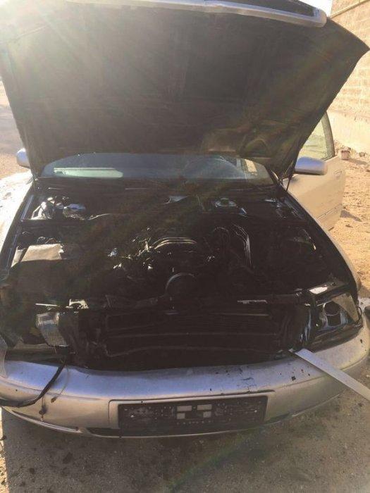В Курыке загорелся автомобиль Audi A8