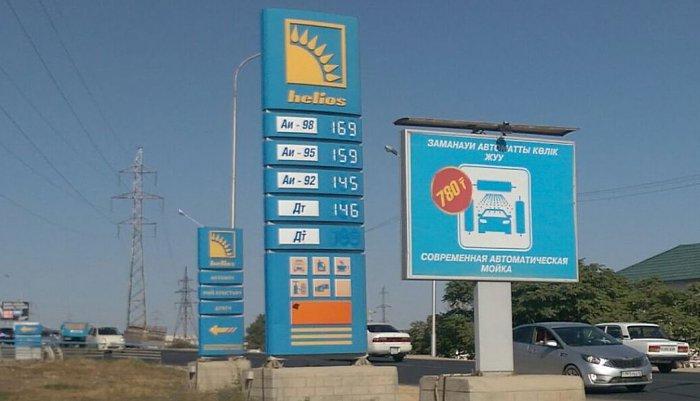 В Актау вновь поднялась цена на бензин АИ-92