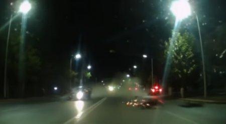 Появилось видео ДТП, в котором погиб известный костанайский мотоциклист