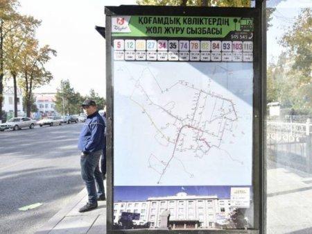 Карты маршрутов появились на остановках Шымкента из-за заблудившихся чиновников