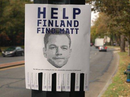 Розыск актера Мэтта Деймона объявило посольство Финляндии в США