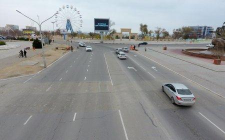 Пешеходный переход напротив акимата Актау перенесли и сделали регулируемым