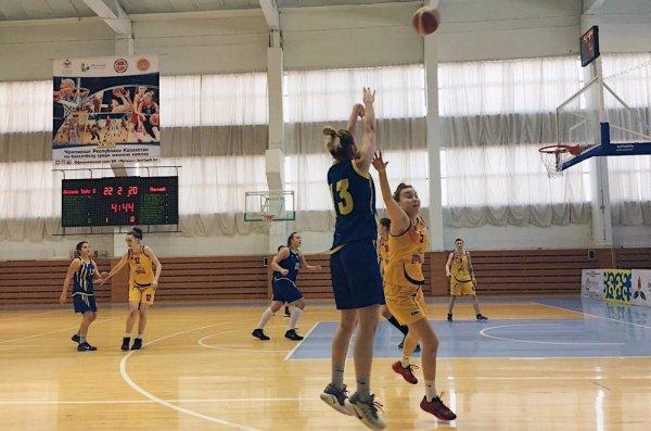 Женская команда баскетбольного клуба «Каспий» победила во втором туре чемпионата Казахстана