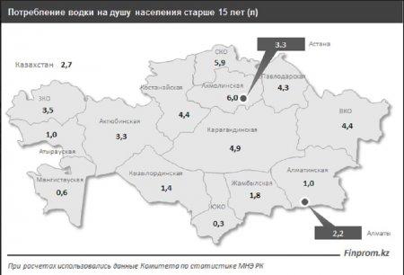 Самые «пьющие» регионы Казахстана: Мангистауская область не вошла в десятку