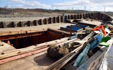 К побережью Японии прибило судно с человеческими скелетами