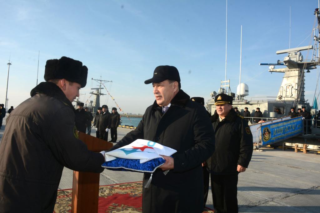 Военно-морские силы РК пополнил корабль «Мангыстау»