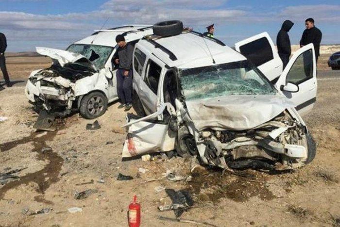 Пять аварий с участием Lada Largus в Мангистау