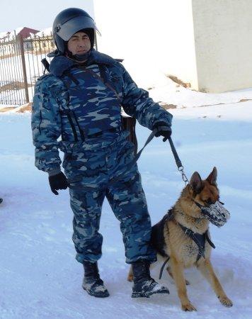В Жанаозене наряд национальной гвардии с помощью служебной собаки задержал парня с пистолетом